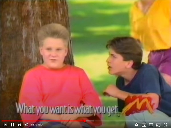 1990's Fast Food Commercial